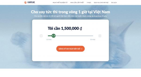 CashCat – Vay siêu tốc lên đến 5.000.000 VND