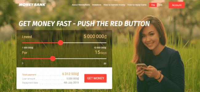 Money Bank – Vay siêu tốc lên đến 10.000.000 VND