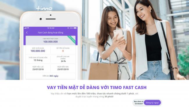 Timo – Vay siêu tốc lên đến 100.000.000 VND