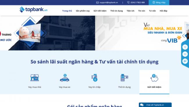 Topbank – Vay siêu tốc lên đến 1.000.000.000 VND