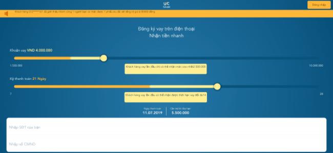 Ucash – Vay siêu tốc lên đến 10.000.000 VND